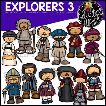 Explorers 3 Clip Art Bundle {Educlips Clipart}.