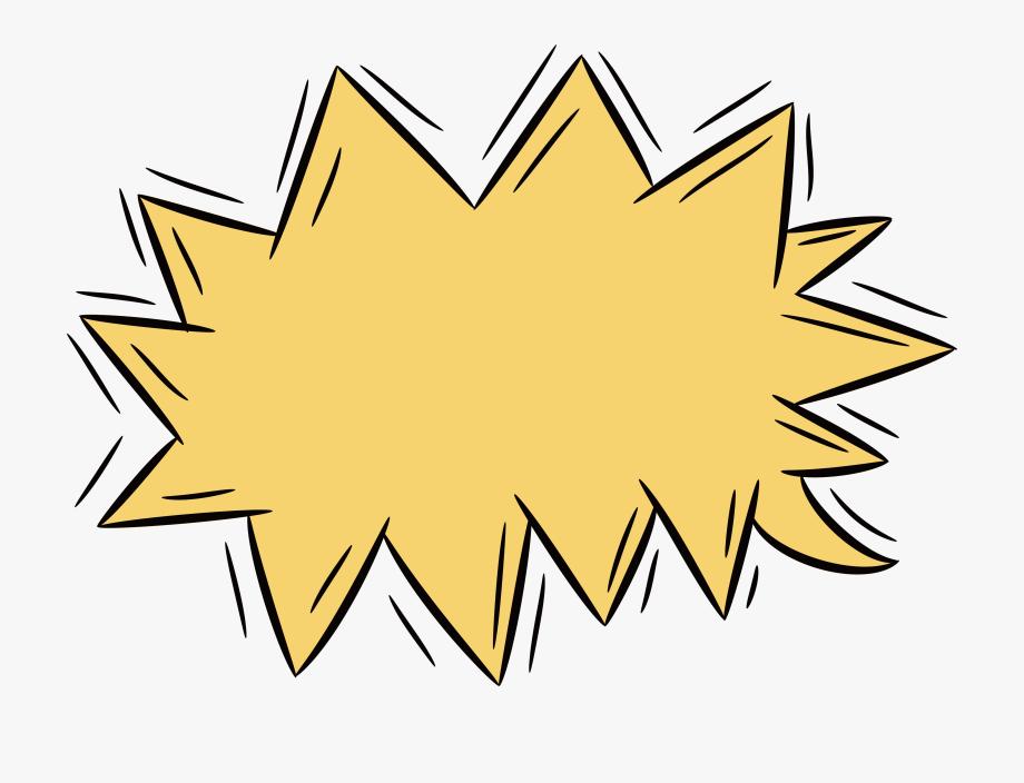 Clip Yellow Serrated Bomb Transprent Png.