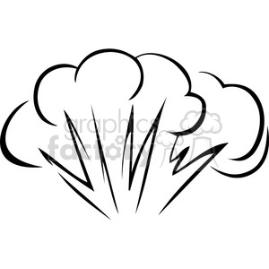 black and white explosion clipart. Royalty.