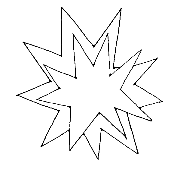 Explosion black and white clipart.