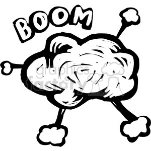 bomb explosion clipart. Royalty.