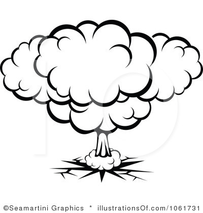 Bomb Explosion Clipart.