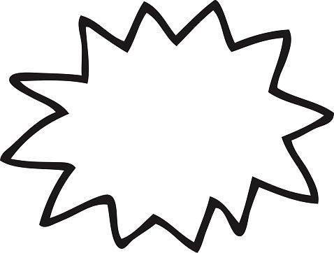 Black and White Cartoon Explosion premium clipart.