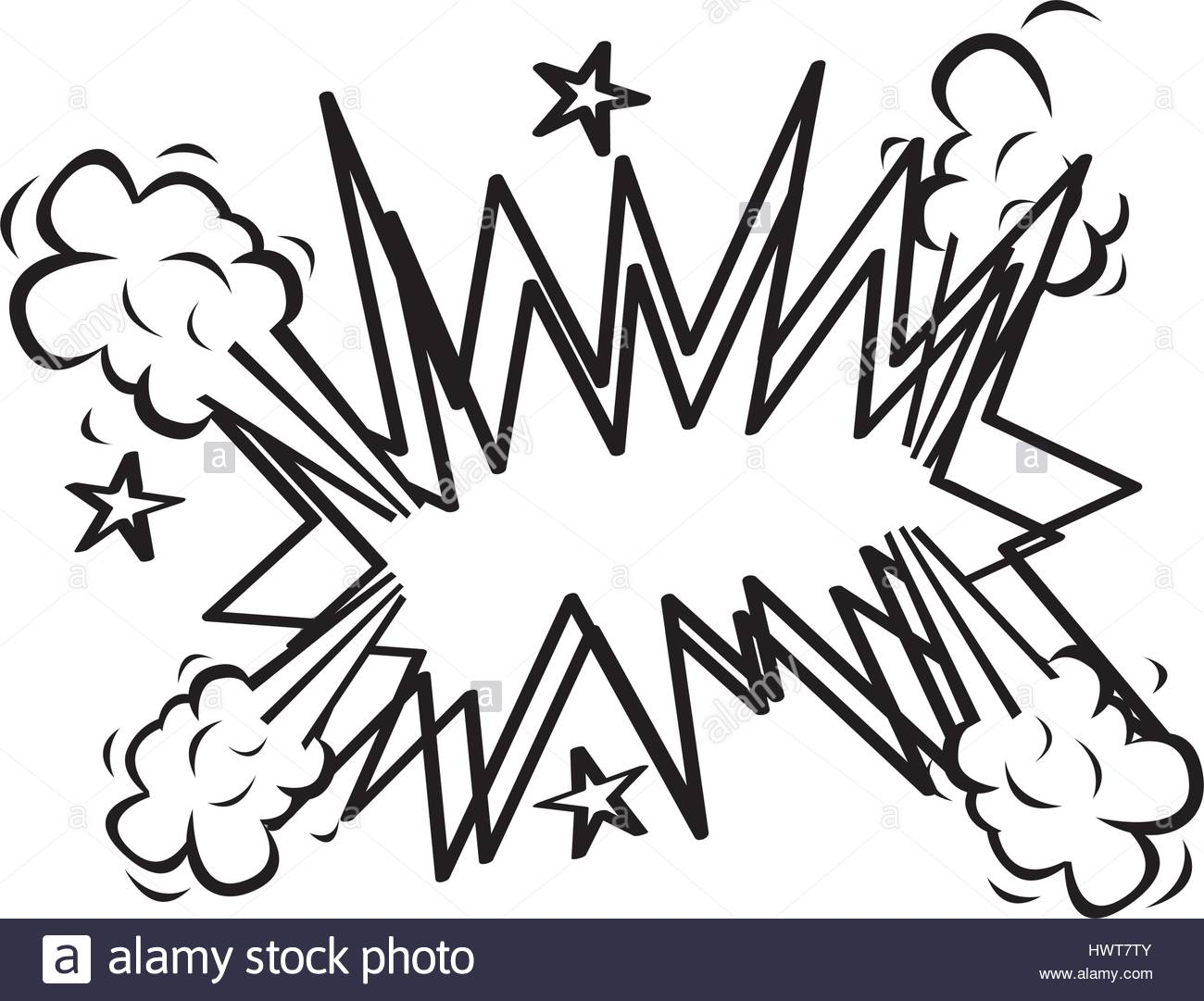 Explosion Clip Art Black and White Stock Photos & Images.