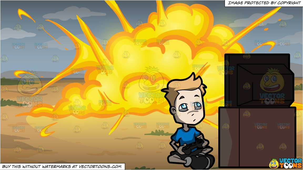 explosion clipart video #8