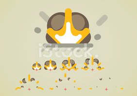 Explosion Effect Animation for Video Games stock vectors.