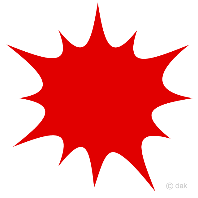 Free Red Explosion Clipart Image|Illustoon.