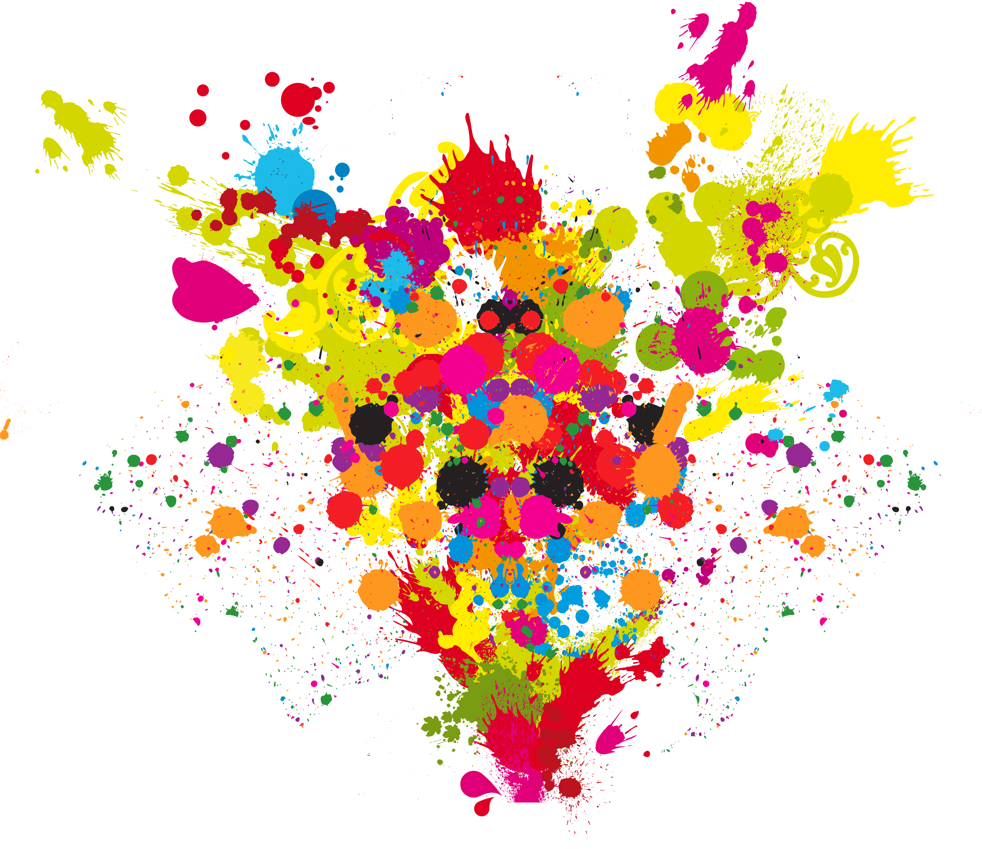 Explosion Of Colors Clipart