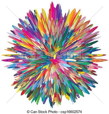 Vectors Illustration of Color Explosion.
