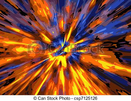 Clip Art Vector of color explosion background.