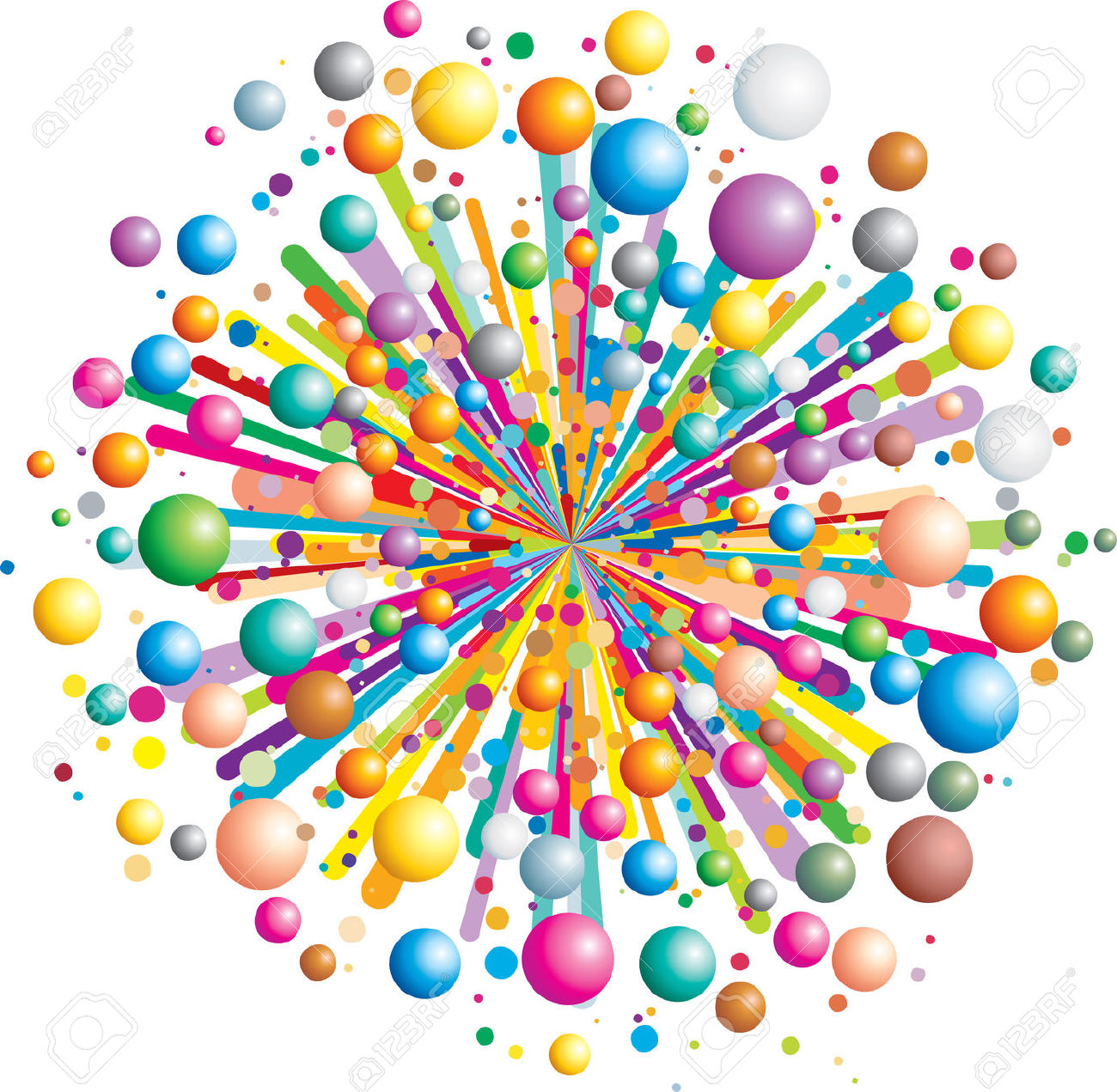 Colorful Funny Explosion.
