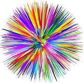 Color Explosion Clip Art.