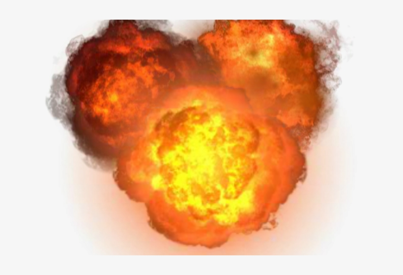 Flames Clipart Realistic Explosion.