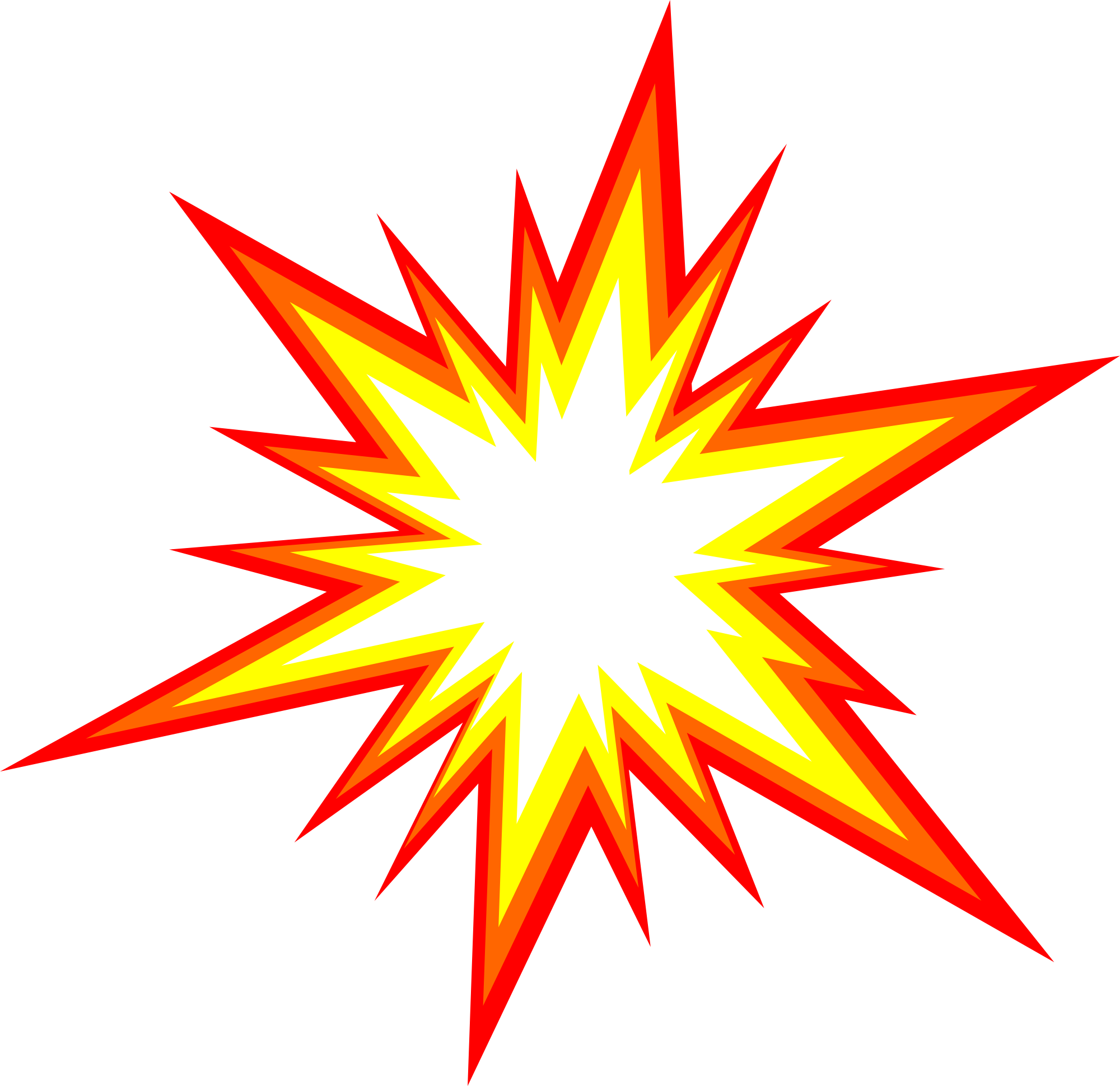 6 Starburst Explosion Comic Vector (PNG Transparent, SVG).