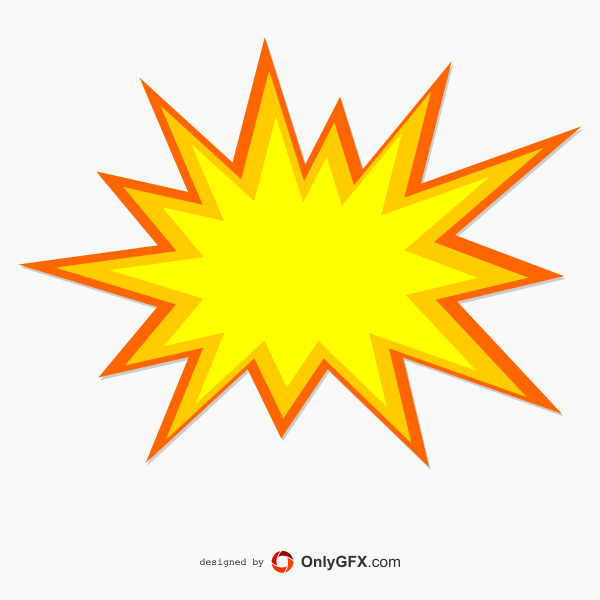 Explosion Vector Png Vector, Clipart, PSD.