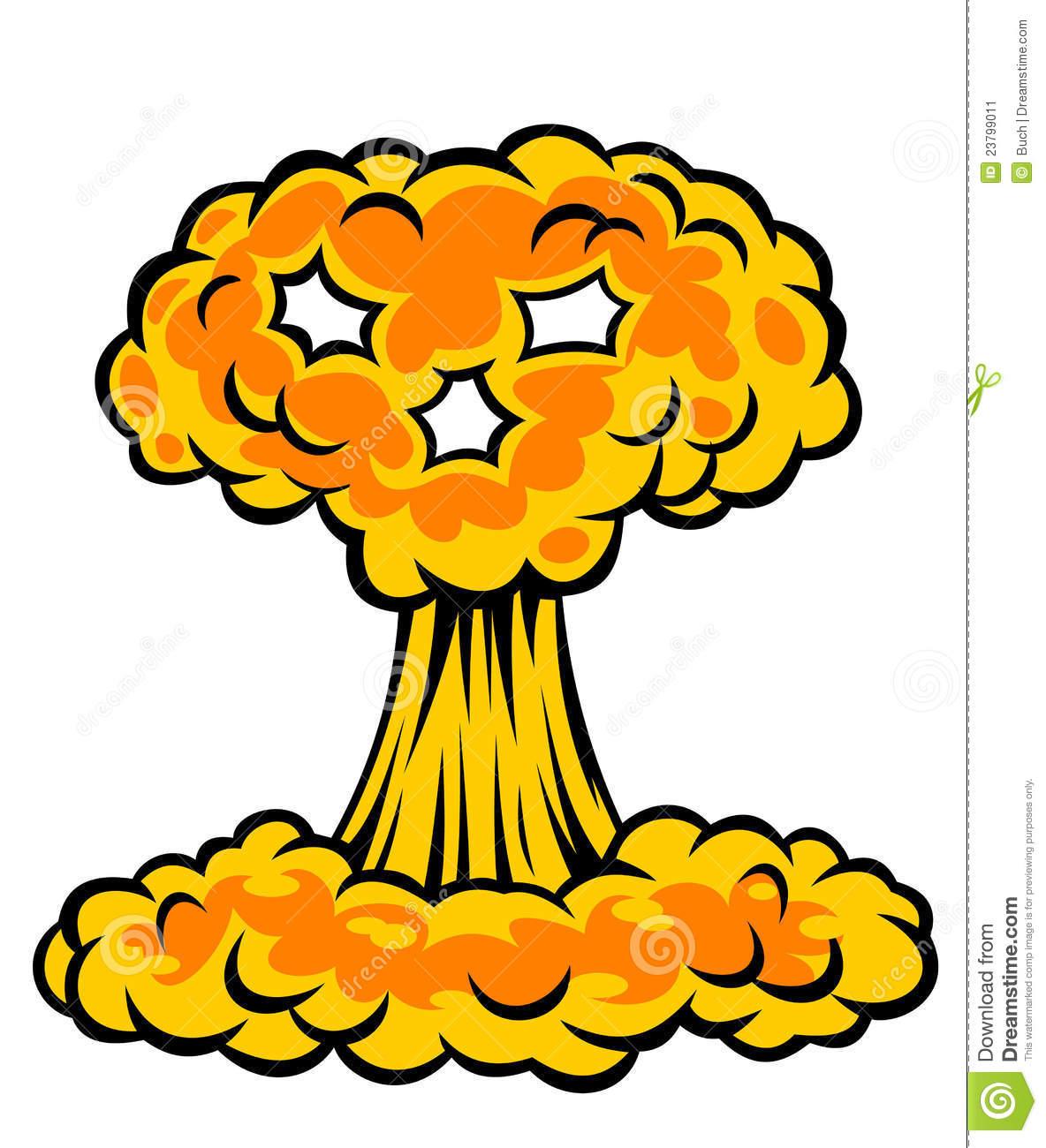 Nuke explosion clipart.