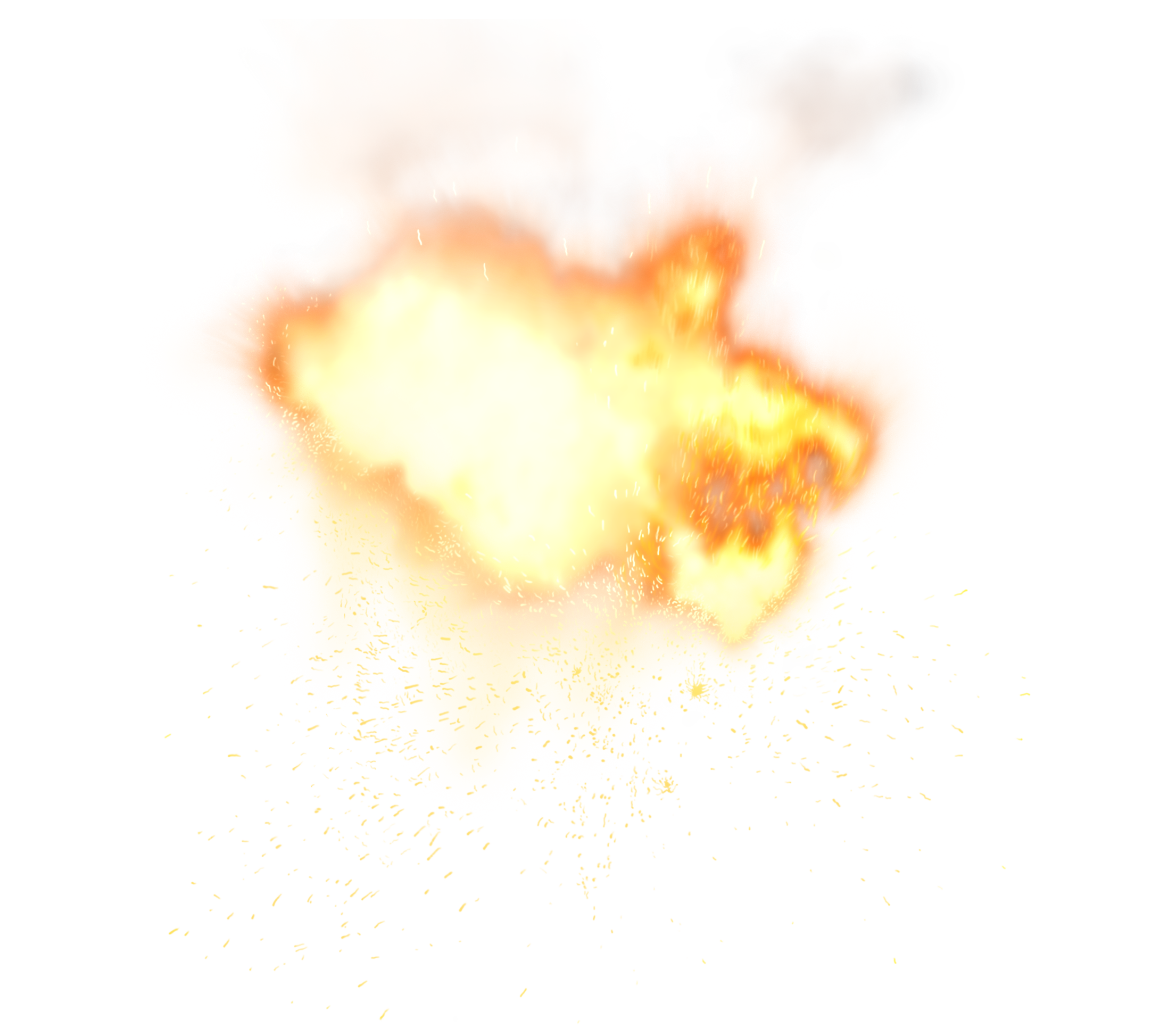 Fiery Explosion PNG Picture Clipart.