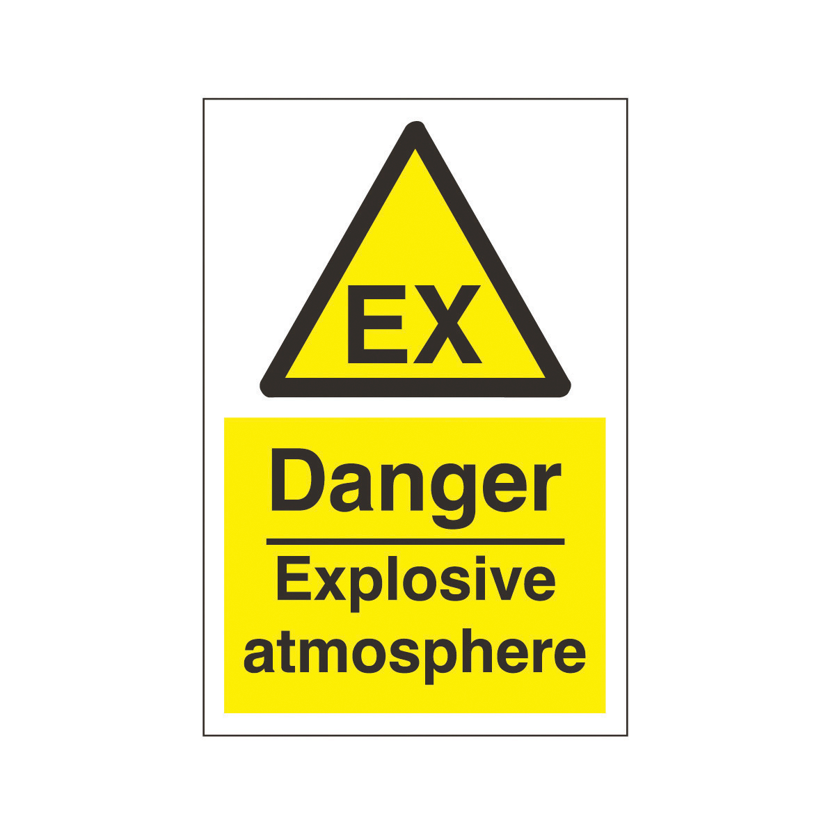 Explosive Warning Sign.