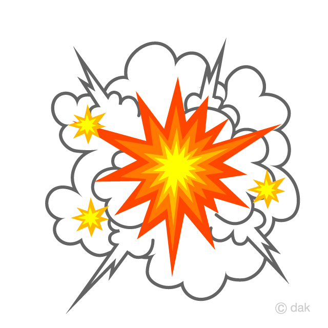 Explosive Smoke and Sparks Clipart Free Picture|Illustoon.