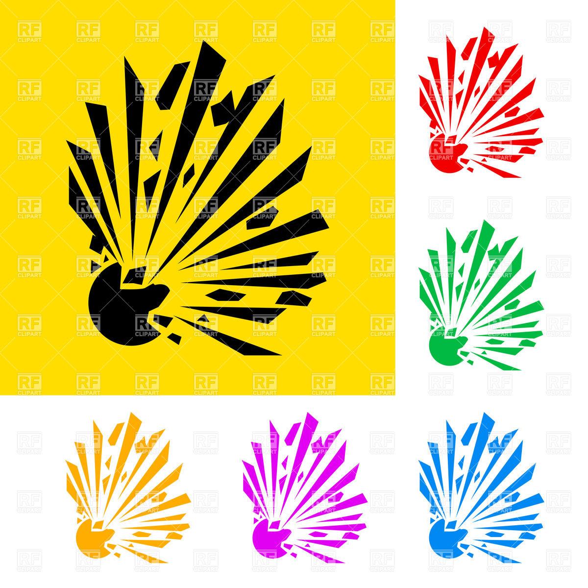 Explosive hazard symbol Vector Image #9186.