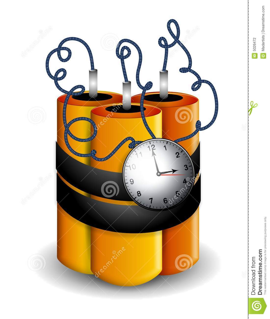 Ticking Time Bomb Explosives Stock Photography.