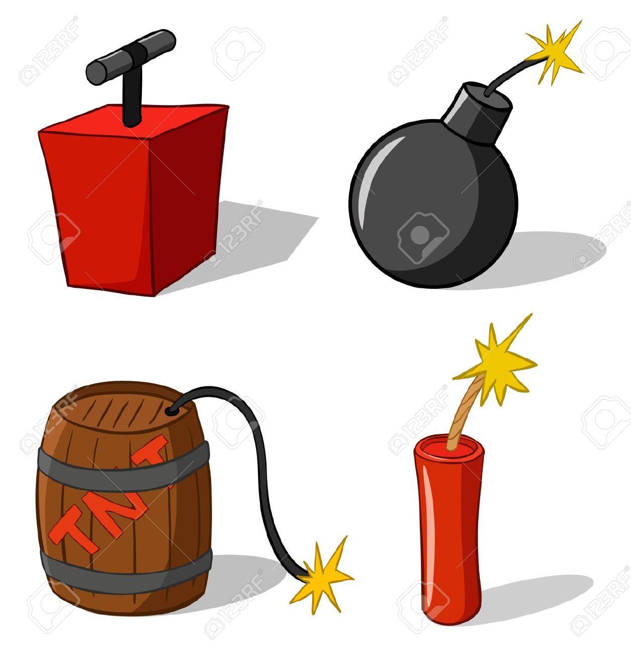 explosive sign: explosive bomb.
