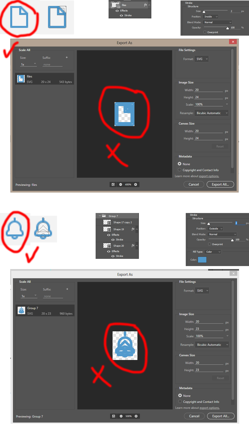 Solved: How to export Photoshop shapes to svg with exactly.