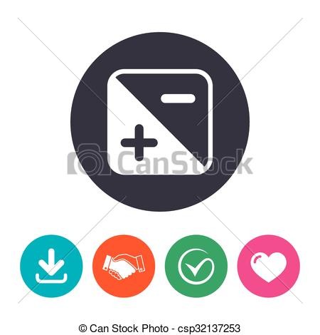 Clipart Vector of Exposure photo camera sign. Quantity of light.