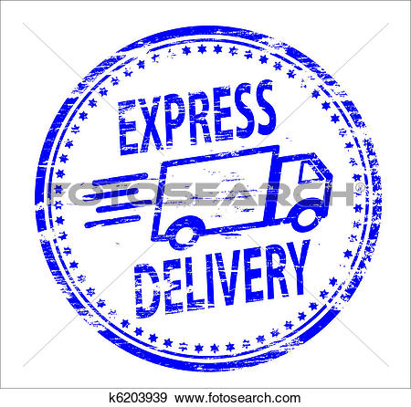 Clip Art of Express Delivery Stamp k6203939.