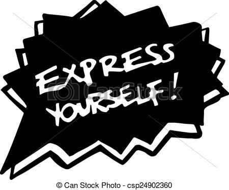 Clip Art Vector of Express yourself.