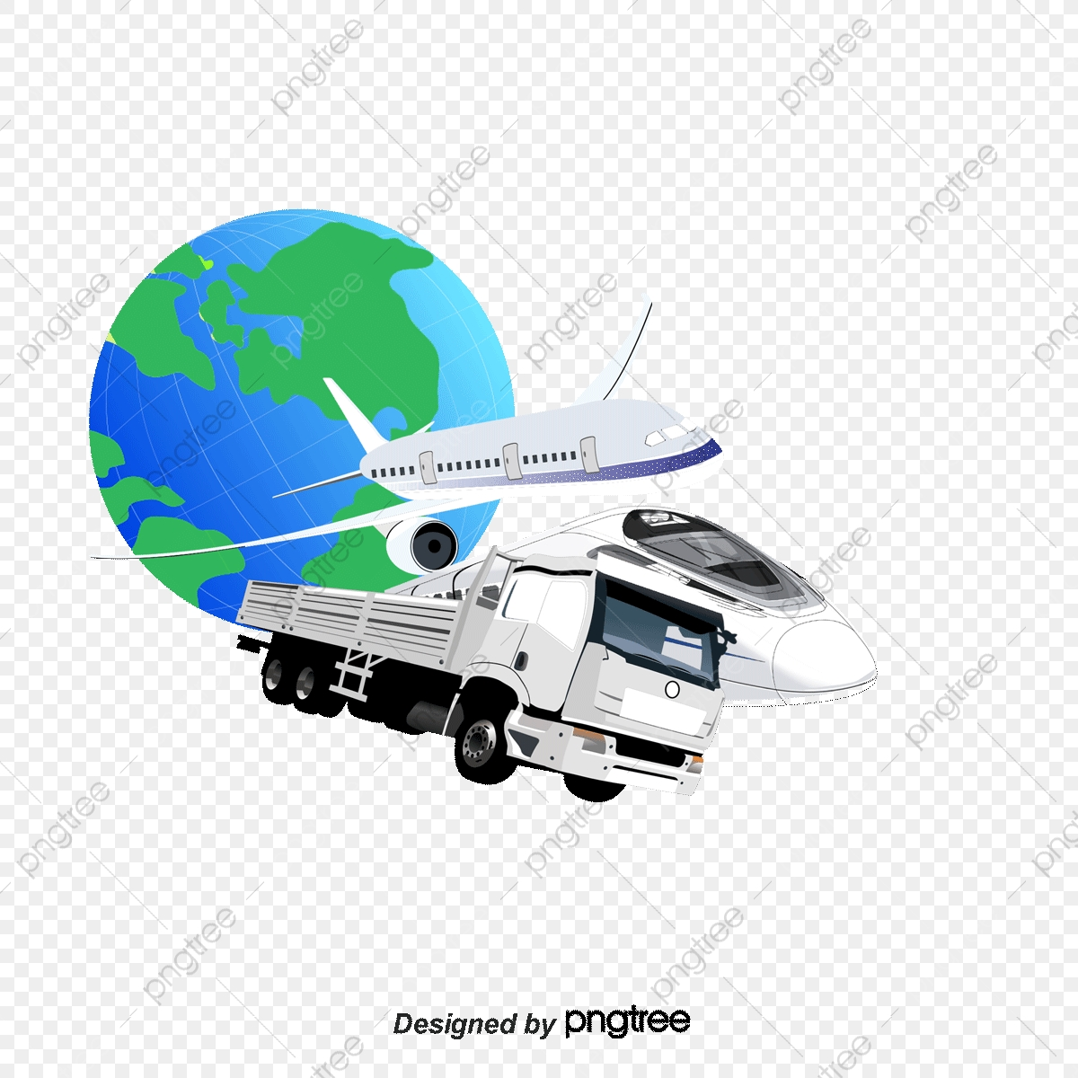 3d Image Of Global Logistics And Express Freight, Express Delivery.