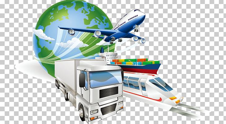 Logistics Freight Transport Cargo Supply Chain Management PNG.