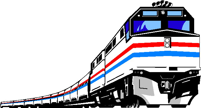 Express train clipart.