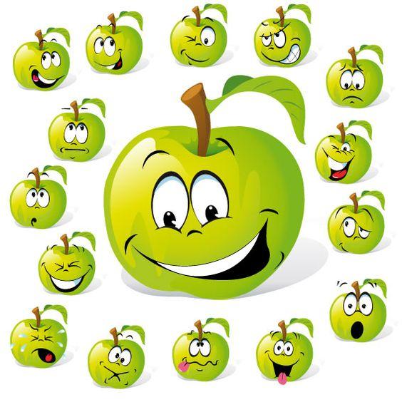 Cartoon Fruit Expression 01 Vector Download Free Vector3d Model.