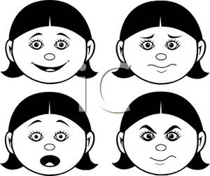 Face Expressions Clipart.