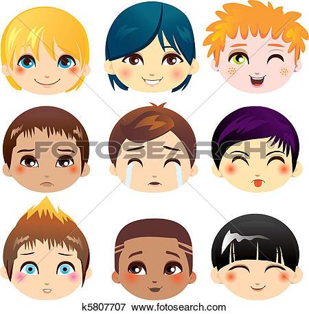 Clip Art of Facial Expression Collection k10142666.