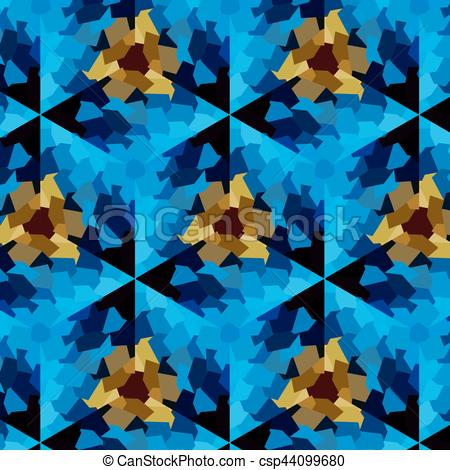 Vector of Abstract expressionism, fantastic blue stone background.
