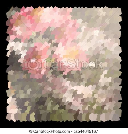 Clip Art Vector of Abstract expressionism, fantastic grey and red.