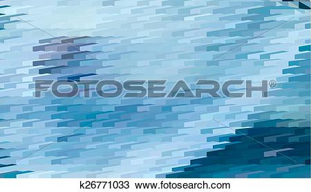 Clipart of Abstract expressionism, fantastic blue landscape.