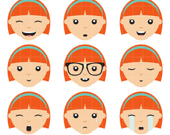 Girls, whatever Clipart expression facial JENNY JOYCE