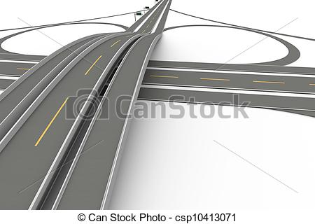 Stock Illustrations of Highway Interchange.