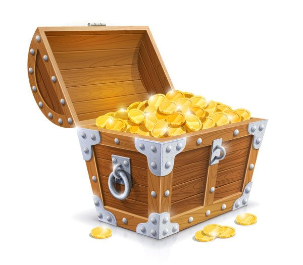 Treasure chest em psd pirates series of exquisite icons download.