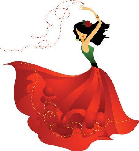 Flamenco Dancer Clip Art, Vector Flamenco Dancer.