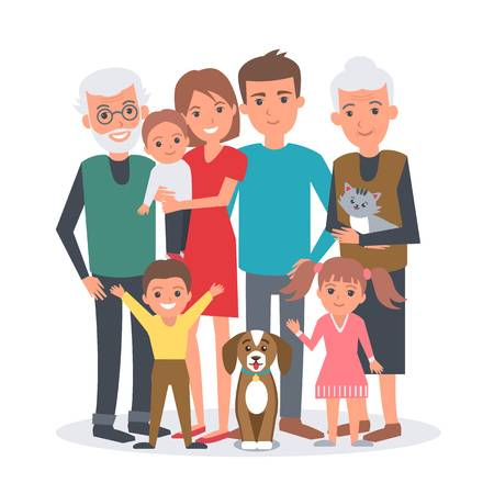 201 Extended Family Stock Illustrations, Cliparts And Royalty Free.