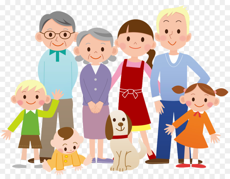 Extended family Father Clip art.