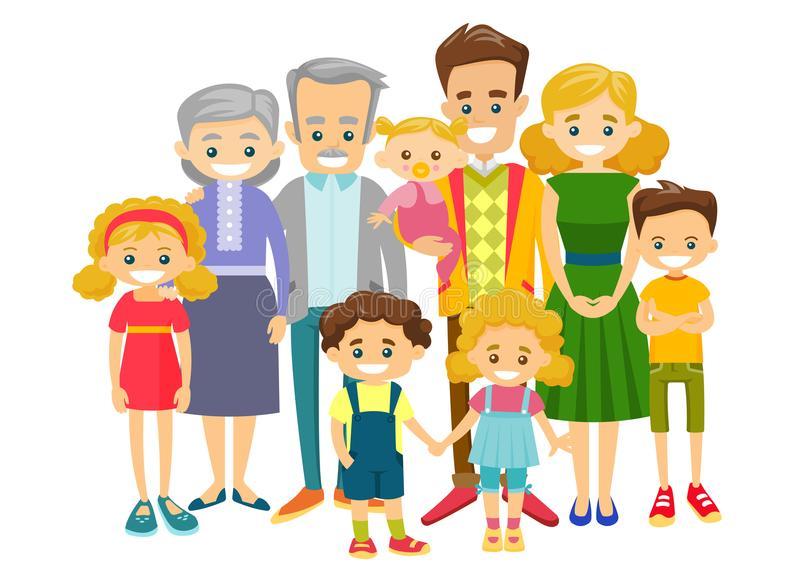 Extended Family Stock Illustrations.