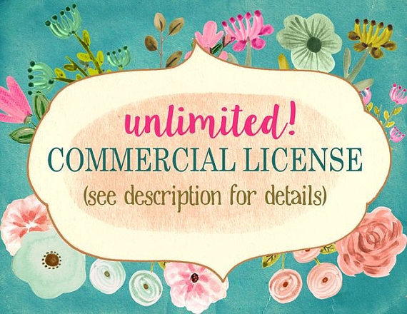 Commercial license for clipart extended license for clipart.