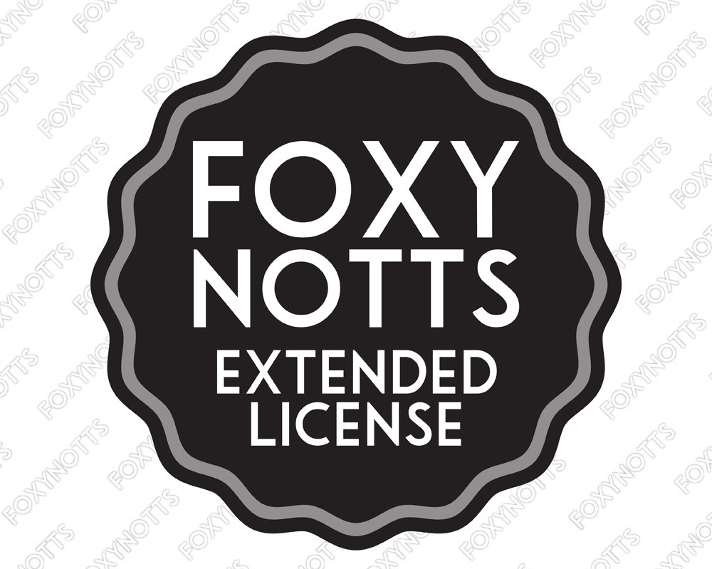 Extended License for Commercial Use: Digital Clipart and.