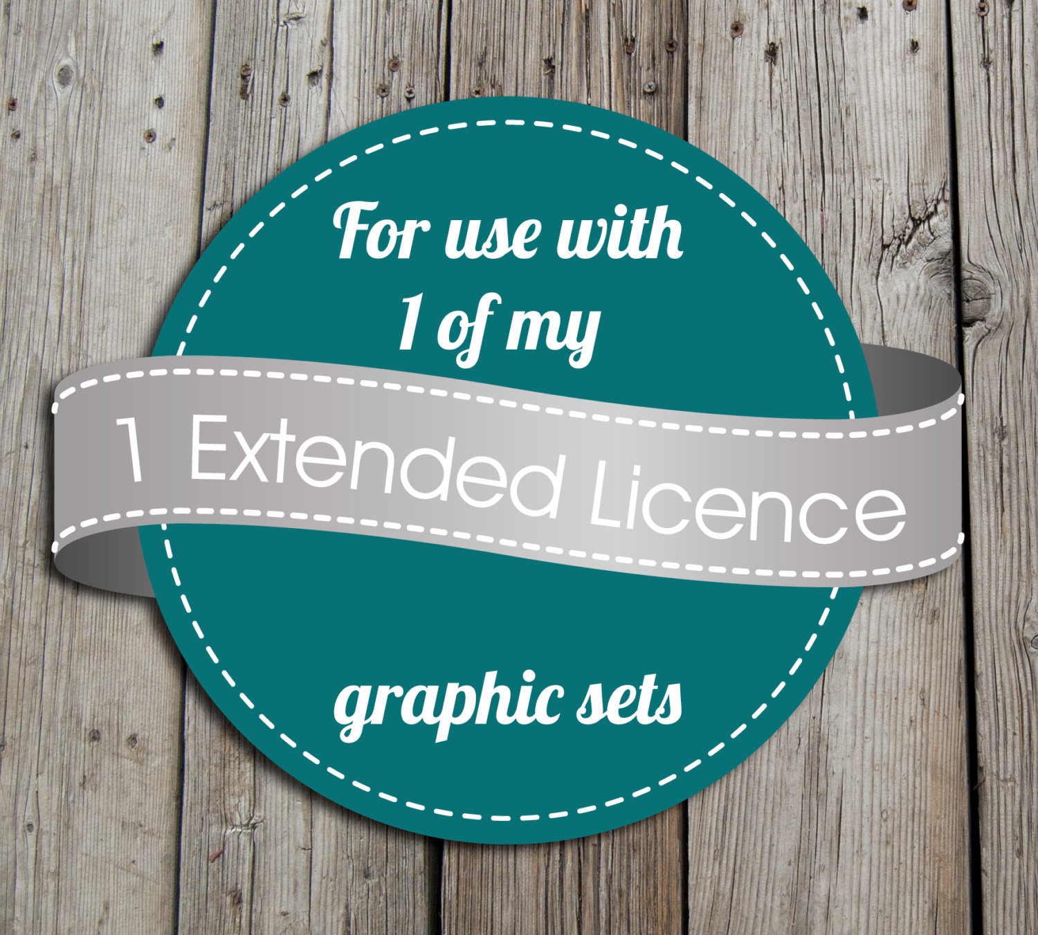 1 Extended license to use with any 1 of my clipart/ graphic sets.