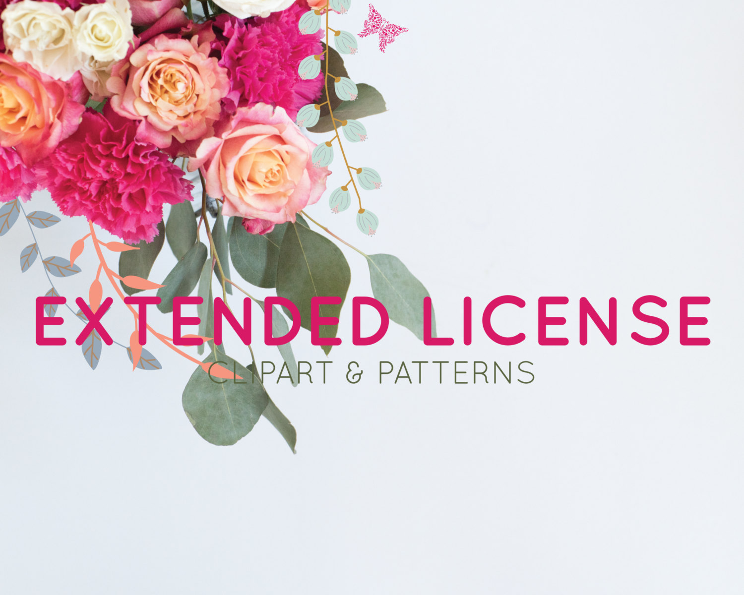 Extended License for Clipart and Seamless Patterns.